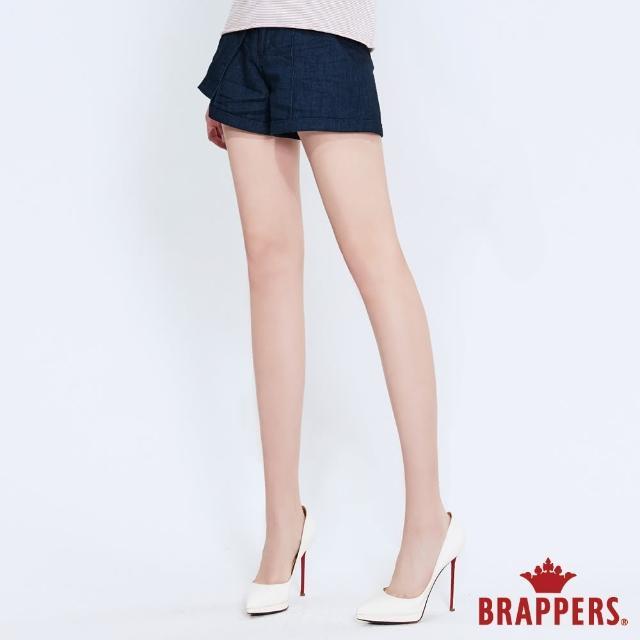 【BRAPPERS】女款 Boy Friend系列-素面打摺造型短褲(深藍)