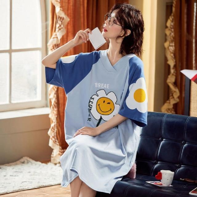 【Jimmy&Wang】純棉太陽花短袖睡衣