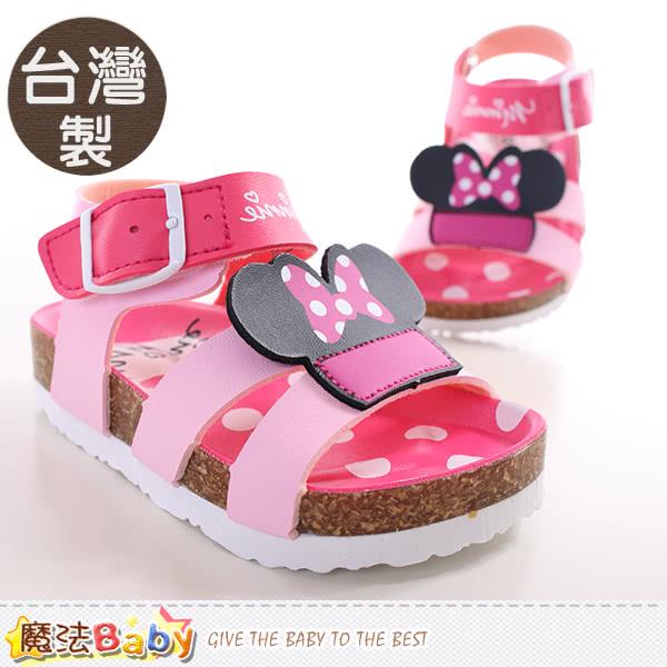 【魔法Baby】寶寶涼鞋 台灣製迪士尼米妮正版童鞋(sh9648)