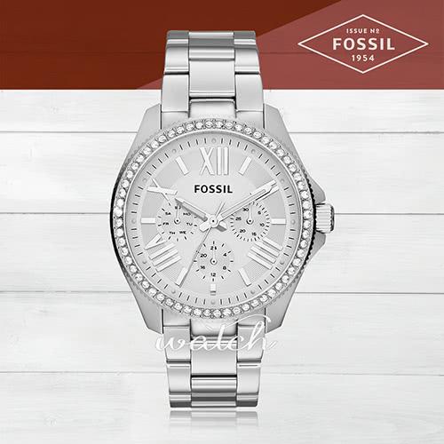 【FOSSIL】時尚精選_三眼顯示_不鏽鋼錶帶_氣質女錶(AM4481)