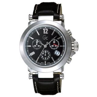 【Gc】知性時尚三眼計時錶-SWISS MADE(黑 GXS31000G2)讓你愛不釋手