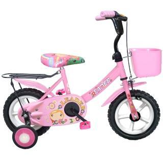 【Adagio】12吋酷寶貝童車附置物籃-台灣製造(粉紅)