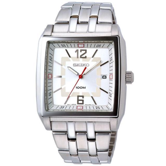 SEIKO 科技新貴經典腕錶(白)
