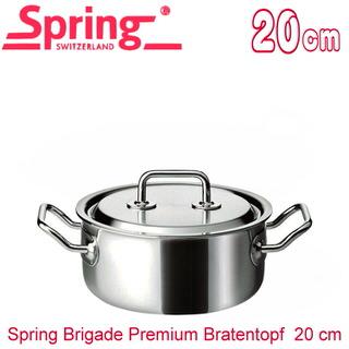 【瑞士Spring】尊爵系列雙耳低身複合金湯鍋(20cm)