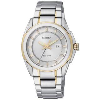CITIZEN 光動能系列 光燦完美線條時尚腕錶(半金-小)