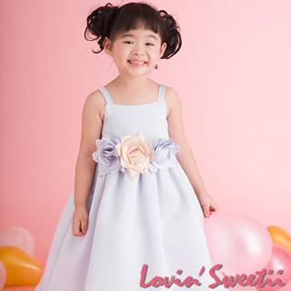 (Lovin Sweetii)俏麗小公主童洋裝~粉藍~限量款 (不含花飾)