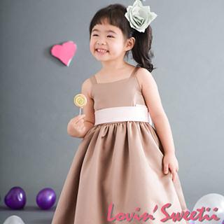 (Lovin Sweetii)俏麗小公主童洋裝香檳色限量款