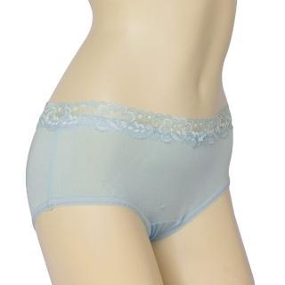【賽凡絲】法式蕾絲完美情人純蠶絲內褲(水藍色)