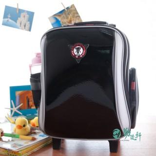 【UnMe】新一代高年級拉桿後背兩用書包/(鏡黑)
