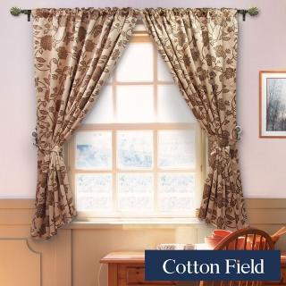 【棉花田】法爾印花仿麂皮穿掛兩用遮光窗簾(270X165cm)