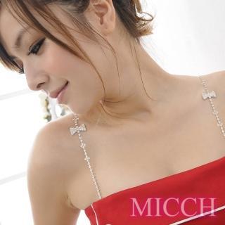 【MICCH】 製 氣質甜心蝴蝶結捷克鑽石肩帶