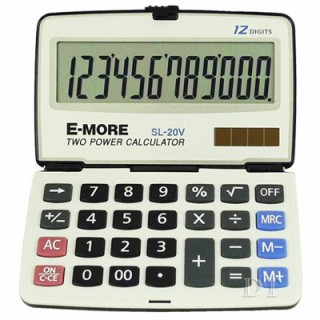 E-MORE 12位元摺疊式商用計算機 SL-20V