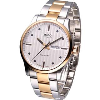 MIDO Multifort 系列 時尚大三針 機械腕錶(M0054302203180)