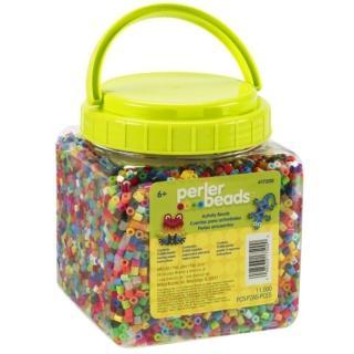 《Perler 拼拼豆豆》11000顆混色補充罐-00一般色系