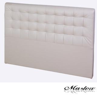 【Maslow-時尚格紋皮製】雙人床頭-5尺(卡其)