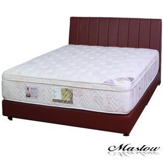 (Maslow-簡約線條暗紅色皮製)加大床組-6尺(不含床墊)