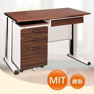 【時尚屋】120CM 胡桃木紋色辦公桌櫃組(261-4)
