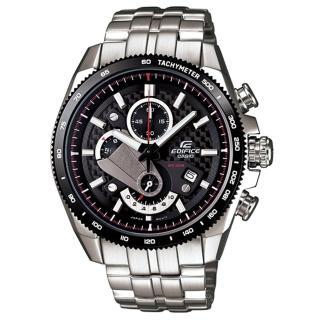 【CASIO】EDIFICE 極簡恆星三眼賽車運動錶(銀 EFR-513SP-1AVDF)