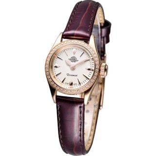 【Rosemont 】茶香玫瑰系列 III 復古時尚錶(RS022-05DB咖啡色皮)