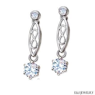 【E&I】 -古典愛戀- 1克拉八心八箭美鑽針式耳環