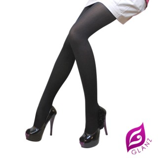 【GLANZ 格藍絲】100D 小惡魔防勾纖腿彈性絲襪(激瘦黑)