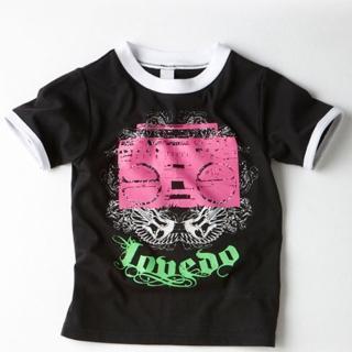【艾唯多童裝】快速到貨-搖滾音響短袖T恤(黑3-11)