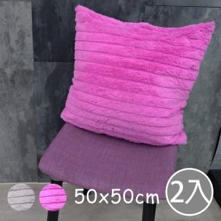 【范登伯格】波浪☆愛不釋手雙面抱枕二入組(三色 50x50cm)