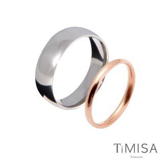 【TiMISA】真愛一生 純鈦對戒(雙色可選)