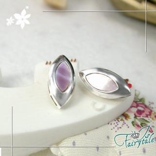 【伊飾童話】霓紫新葉*純銀耳環