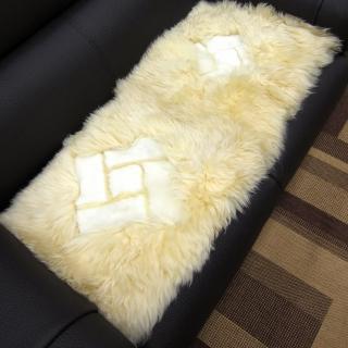 【范登伯格】羊毛超柔長毛二人坐墊-雪菱格(40x100cm)