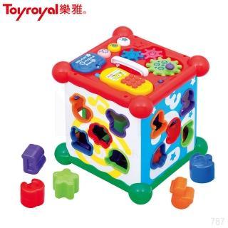 【日本《樂雅 Toyroyal》】聲光積木六面盒(1.5y以上)