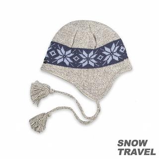 【SNOW TRAVEL】 3M防風透氣保暖羊毛遮耳帽(淺灰)