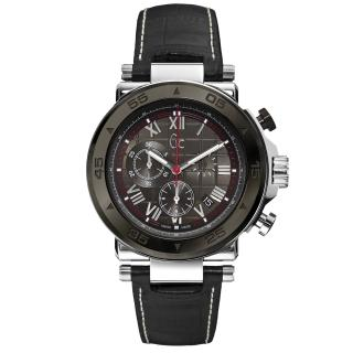 【Gc】精密堡壘三眼計時都會腕錶(皮帶-黑 X90004G5S)