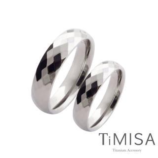 【TiMISA】格緻真愛-寬版 純鈦對戒