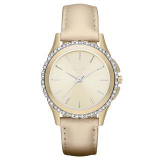 【DKNY】絕代魅力晶鑽都會腕錶(香檳金 NY8702)