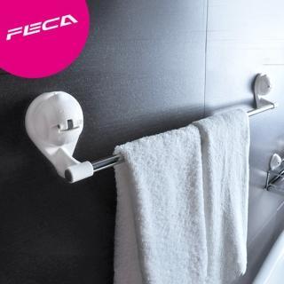 【FECA非卡】無痕強力吸盤 武士多功能毛巾架(白)