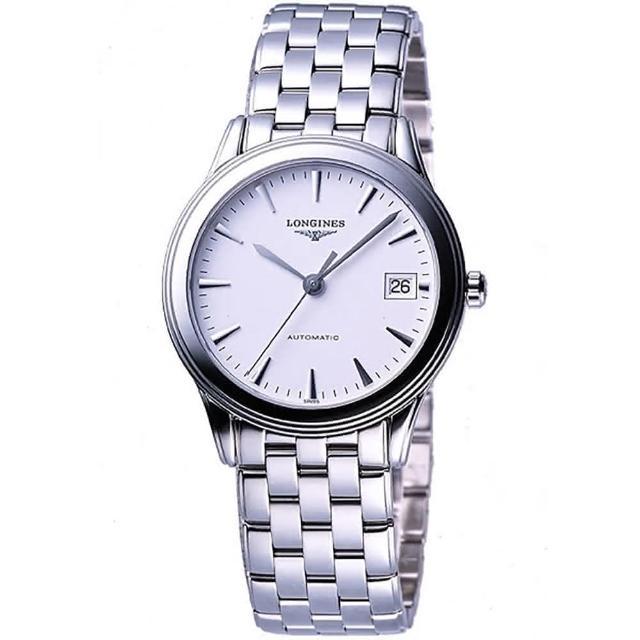 【LONGINES】典藏系列典藏機械腕錶-白(L47744126)/
