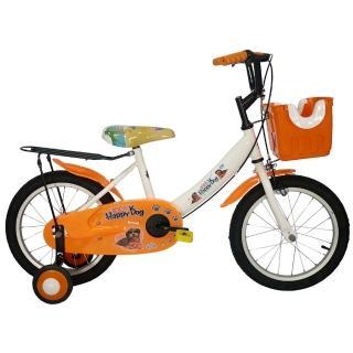 【Adagio】16吋酷樂狗打氣胎童車附置物籃(橘色)