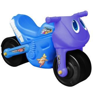 【寶貝樂】小爵士摩托車造型學步助步車(藍)