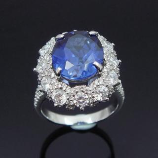 【Celosa名品-】麗緻藍寶戒指