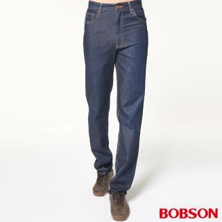 【BOBSON】男款高腰輕薄涼爽直筒褲(藍53)