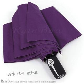 【RainSky】Teflon!RB精品自動傘-防風晴雨傘(紫)