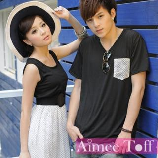【Aimee Toff】輕盈水玉背心洋裝情侶裝