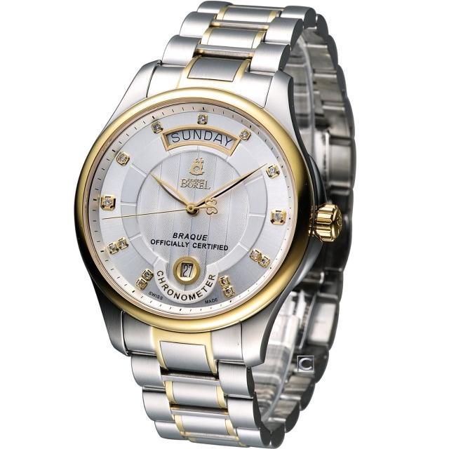 【E.BOREL 依波路】布拉克系列機械腕錶(GB7350WC3-2599)
