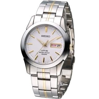 【SEIKO 精工】經典大三針紳士腕錶(7N43-0AR0KS)