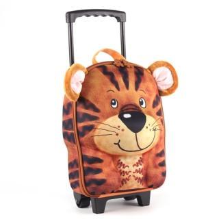 【德國 okiedog】兒童3D動物造型系列-拉桿式行李箱(老虎)