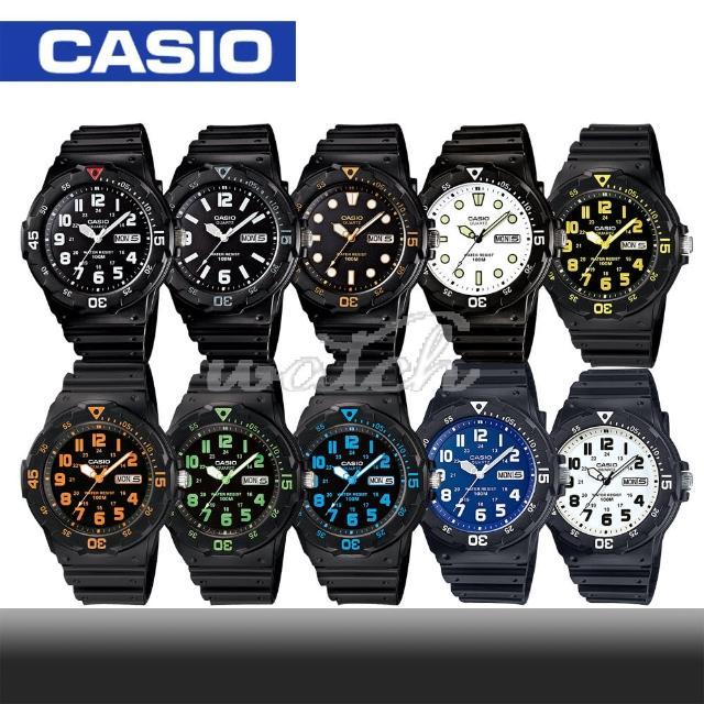 【CASIO 卡西歐】潛水風格-學生/青少年指針錶_鏡面4.4cm(MRW-200H)