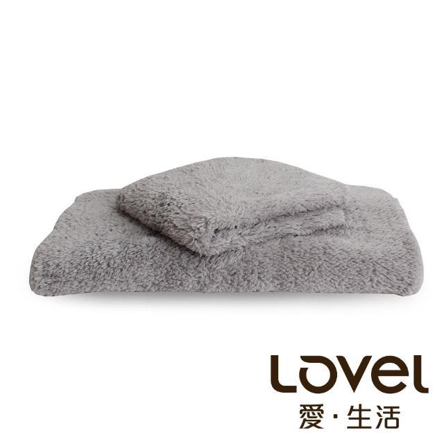 【Lovel】7倍強效吸水抗菌超細纖維毛巾/方巾2件組(共9色)/