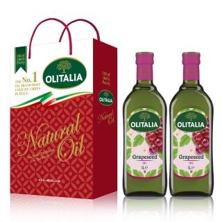 【Olitalia奧利塔】葡萄籽油禮盒組(1000mlx6瓶)
