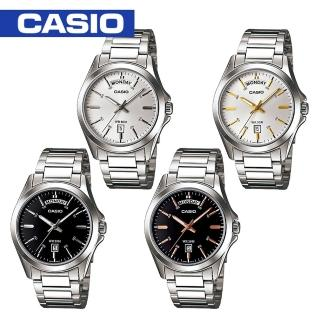 【CASIO 卡西歐】送禮首選-時尚指針型紳士男錶(MTP-1370D)